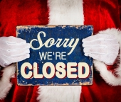 sorry wer're closed, closing, fermeture, congés, noël, nouvel an, christmas, happy new year